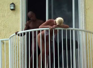 caught an bi-racial duo on the balcony