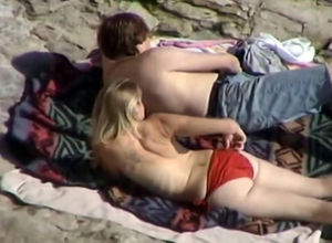 Candid bare beach porking filmed by..