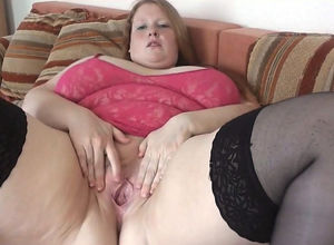 Playful German thick virgin stretches..