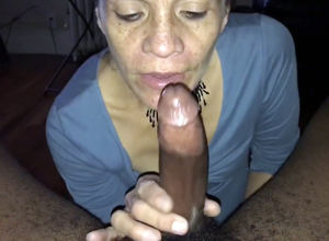Mature hostess inhaled Big black cock..