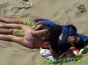 Spycam compilation of beach  in public