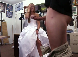 Young woman bride in a wedding dress...