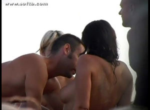 French swinger couples caught at Cap..
