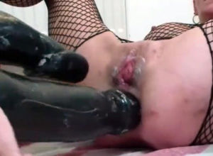 Xxx rectal dp by monster fake penis