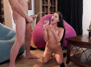 Sex-positive whore swallows a utter..