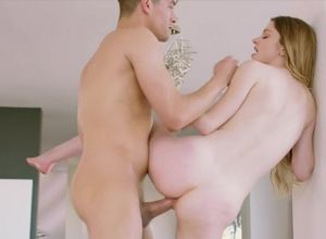 Nubile ash-blonde Bunny gets caught..