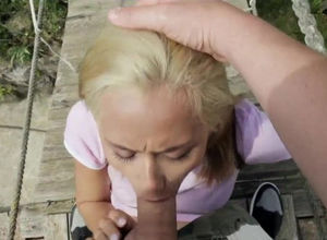 Veronica blasts while railing stiff knob