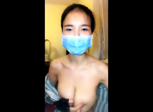 Chinese Girlfriend in medical mask..