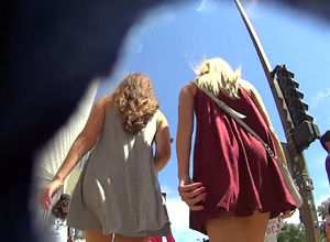 Magnificent upskirt vid with 2..