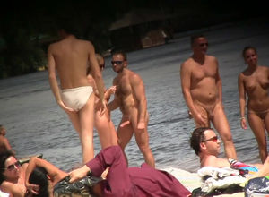 New spycam movie from naked beach and..
