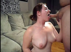 Wild mature wifey gargles hard-on and..