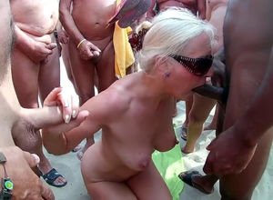 Light-haired mature orla group-fucked..