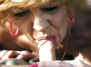Still ultra-kinky grandma inhaling man..