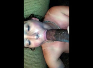 Cuckold wifey gargle ebony spear and..