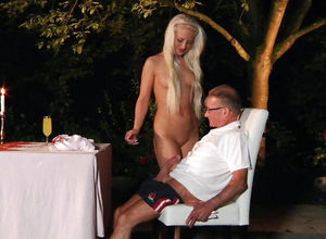 Promiscuous Ditzy Entertains An Aged..