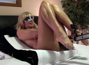 Ash-blonde mature wifey in the mask..
