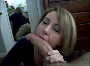 Warm wifey deep throating stiffy and..
